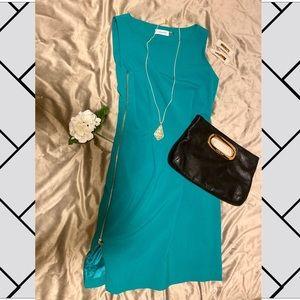 Calvin Klein green sheath dress, size 4